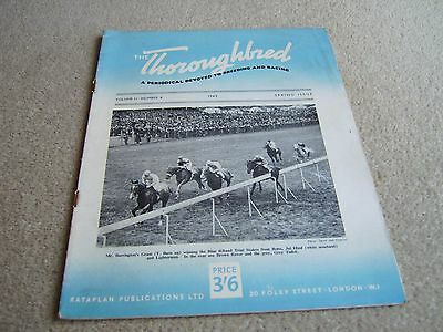 Vol 2 #4 1948 The Thoroughbred magazine, Blue Riband Trial Stakes finish cover
