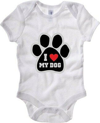 Baby Bodysuit T0014 I LOVE MY DOG