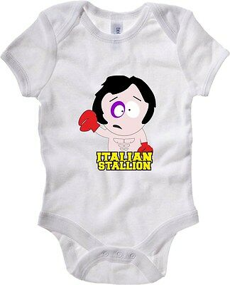 Baby Bodysuit T0100 ROCKY ITALIAN STALLION fun cool geek