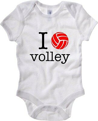 Baby Bodysuit T0140 i love volley