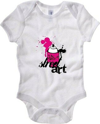 Baby Bodysuit T0161 STREET ART fun cool geek