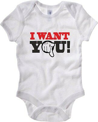 Baby Bodysuit T0164 i want you fun cool geek