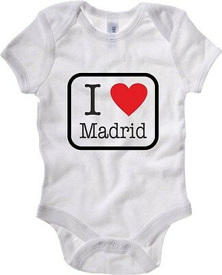 Baby Bodysuit T0175 i love madrid