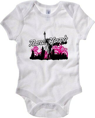 Baby Bodysuit T0268 NEW YORK vintage