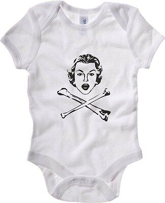 Baby Bodysuit T0416 donna ossa fun cool geek