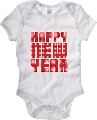 Baby Bodysuit T0442 happy new year fun cool geek