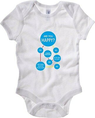 Baby Bodysuit T0580 are you happy fun cool geek
