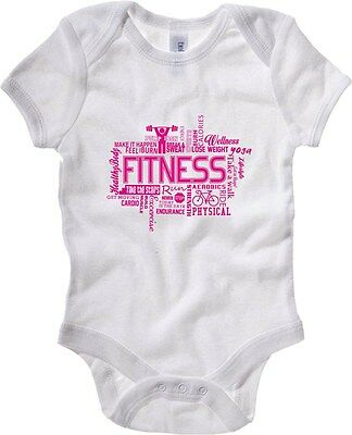 Baby Bodysuit T0617 fitness fun cool geek