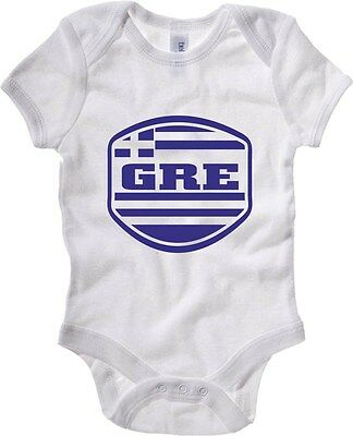 Baby Bodysuit T0717 GREECE GRECIA calcio ultras