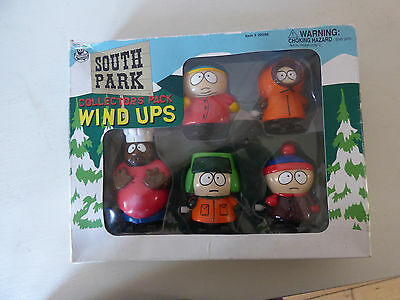 South Park collectable wind ups,Chef, Stan, Kenny, Cartman, Kyle, 1999