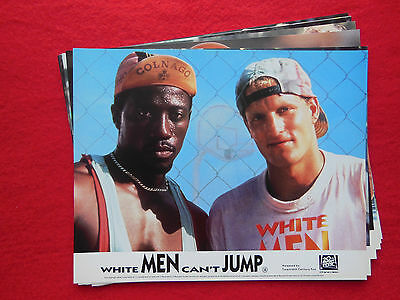 RARE VINTAGE 10x8 UK FOH LOBBY CARD STILL SET(x8) - WHITE MEN CAN'T JUMP