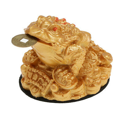 Feng Shui Fortune Chanceux Oriental Chinois Richesse Grenouille Crapaud Or