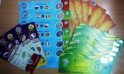 WC & EURO FINAL TOURNAMENTS TICKETS UPDATED FEBRUARY 2017 Read item description