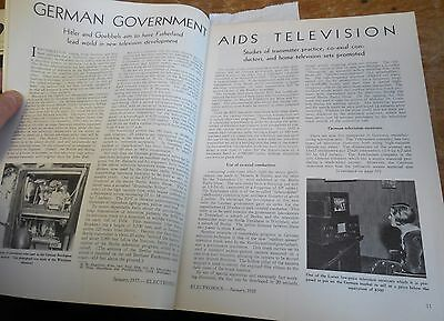 Hitler, Goebbels support early German Television in rare 1935 Electronics magazi