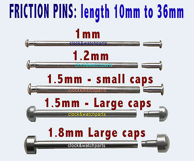 2 watch FRICTION PINs PRESSURE BAR T-Bar, watch clasp bracelet strap Pin 10-36mm