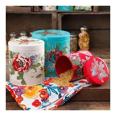 The Pioneer Woman Country Garden 3-Piece Canister Set