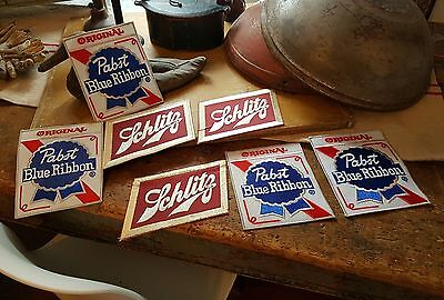 Pabst & Schlitz Embroidered Patches / 7 In The Lot..