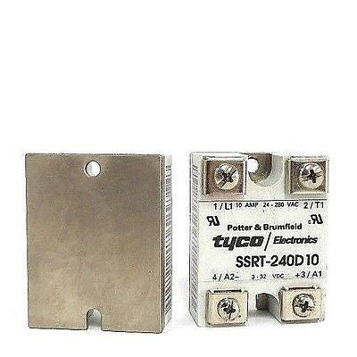 Lot Of 2 New Potter & Brumfield Tyco Ssrt-240D10 Solid State Relays 3-32 Vdc