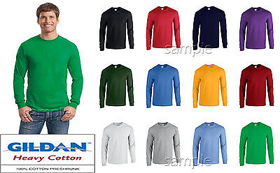 Gildan Long Sleeve T Shirt Mix Colors Sizes Plain S-XL Wholesale  Lot Bulk of 12