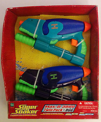 Super Soaker Max-D 3000 Twin Pack Duo NIB 2006 Larami Hasbro Water Pistol