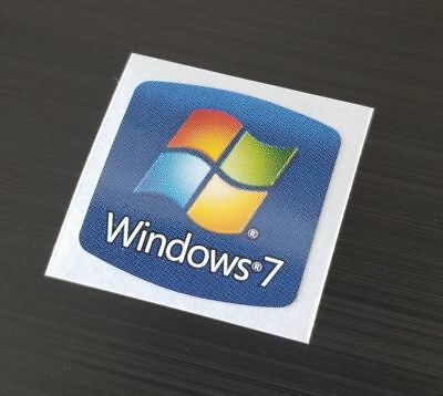 NEW! Windows 7 Sticker 18mm x 18mm Label Genuine Case Badge Sticker. USA Seller!