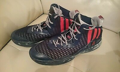 Adidas basketball boots trainers size 11 John Wall blue red