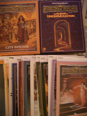 Dungeons & Dragons I Forgotten Realms Modules/Source Materials MULTILIST