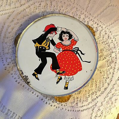 Antique Kirchoff Tin Tambourine with Dancers