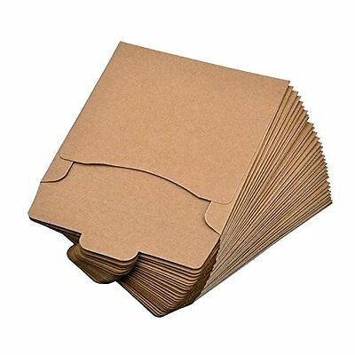 eBoot Disc Jewel Cases 30 Pack Kraft Paper CD Sleeves DVD Envelopes Cardboard (5