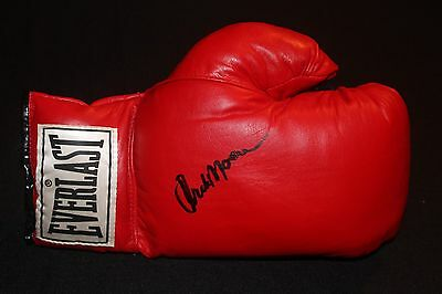 Archie Moore Autographed Authentic Everlast Boxing Glove JSA