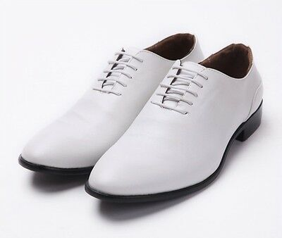 Men's Business Casual Shoes Dress Formal Oxfords Retro Leather shoes White New