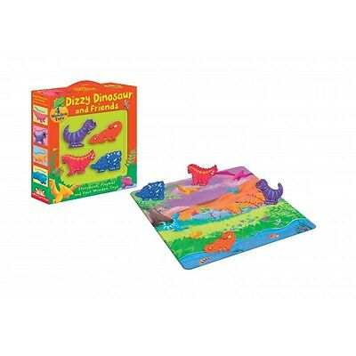 Dizzy Dinosaur & Friends Set - Childrens Storybook, Playmat and Wooden Dinosaurs