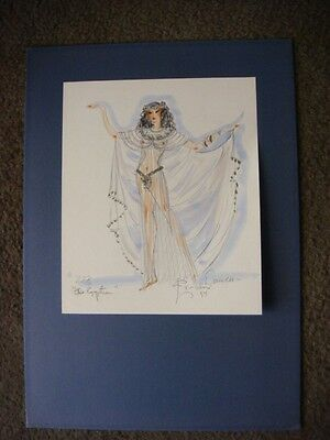 CHARLES Le MAIRE SIGNED ORIGINAL  COSTUME SKETCH FOR THE EGYPTIAN 1954