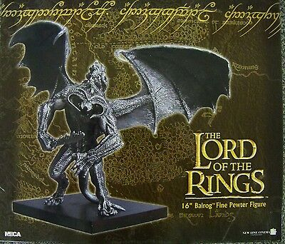 16 inch LOTR lord of rings pewter BALROG statue misb