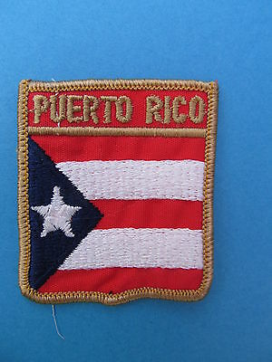 PUERTO RICO Shield Patch Jacket Biker Vest Backpack Travel Country Crest