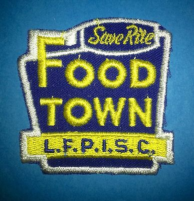 Vintage 1970's Save Rite Food Town Store Employee Uniform Work Shirt Patch