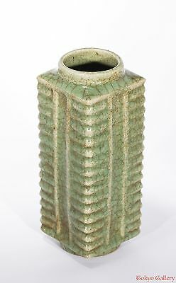 late Ming dynasty chinese antique celadon vase (0048)