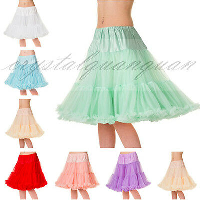 New Swing Vintage Soft Underskirt Slips Ladies Tutu Layers Petticoat Rockabilly