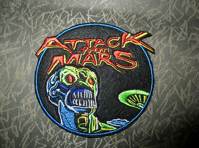 ATTACK FROM MARS PINBALL Embroidery Patch Custom Sewn Machine Martian