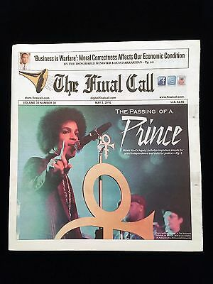 Final Call Newspaper Special Prince Edition May 3rd, 2016 NEW RARE!