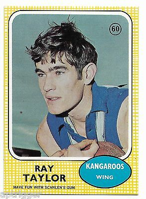 1970 Scanlens (60) Ray TAYLOR North Melbourne  { MINT }