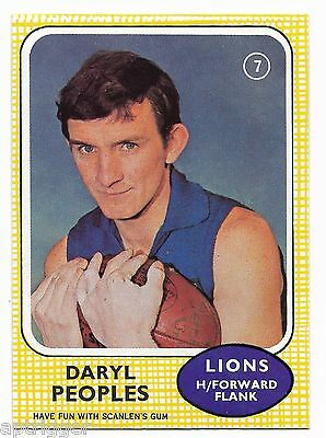 1970 Scanlens (7) Daryl PEOPLES Fitzroy  { MINT }