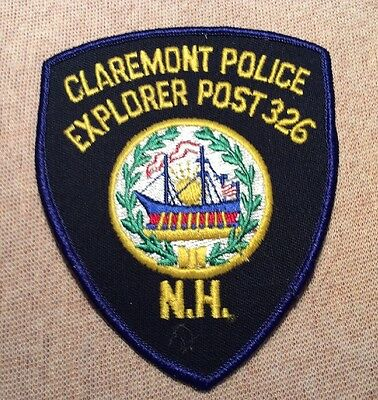 NH Claremont New Hampshire Explorer Post 326 Police Patch