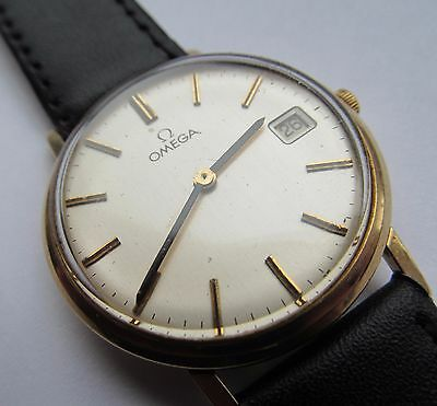 Vintage 9 ct gold Omega gents wrist watch