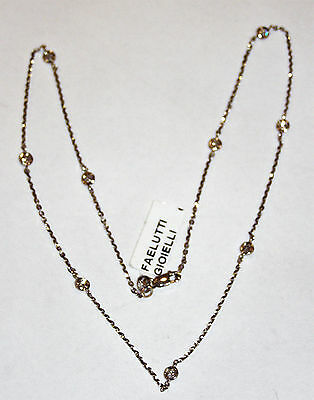 COLLANA ORO 18KT DIAMANTI GOLD DIAMOND NECKLACE TYPE Typ Goldkette