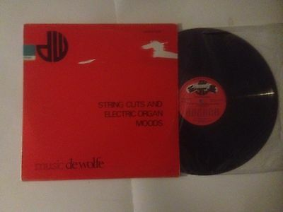"""Johnny Hawksworth Music De Wolfe """"String cuts and electric organ moods"""" LP"""