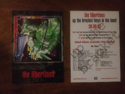 The Libertines – Up The Bracket / Boys In The Band RARE OFFICIAL POSTCARDS 2002