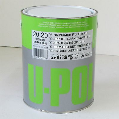 U-Pol S2020 3ltr HS High Build Primer Filler Grey Easy Sand 2k primer