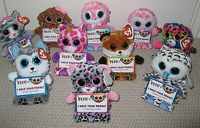 Ty Toys - Peek-A-Boo Mobile Phone Holder With Screen Cleaner - New With Ty Tags