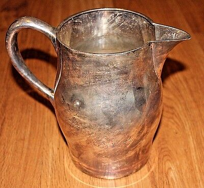 """Vintage Lawrence B Smith Silverplate Water Pitcher 7.5"""" Jg54"""